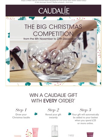 The BIG Christmas Competition: Win a gift with EVERY order