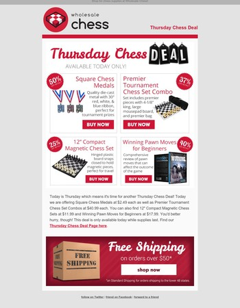 Thursday Chess Deals