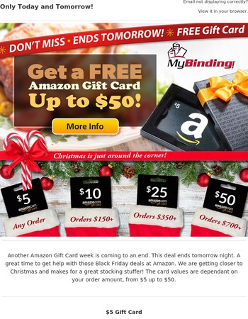 FREE Gift Card + Black Friday = Save More Money