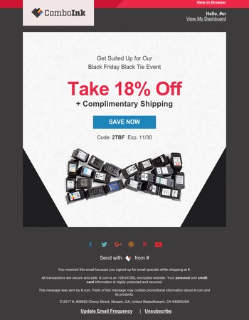 18% Off + Shipping Included: Can't Miss Black Tie Event