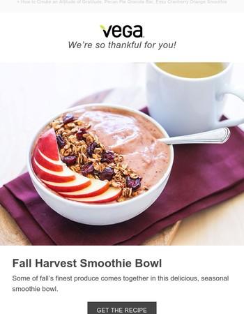Celebrate Fall: Harvest Smoothie Bowl