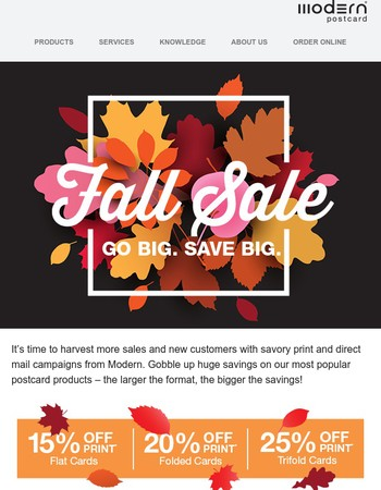 Our biggest fall sale ends soon - lock in your savings now