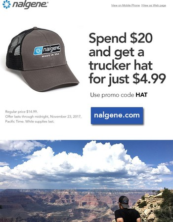 Spend $20 and get a trucker hat for just $4.99