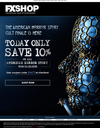 Save on American Horror Story merch, today only!