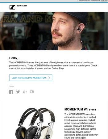 Sennheiser MOMENTUM at a special price