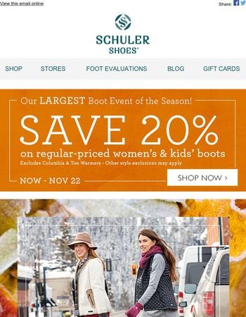 Comfortably stylish boots • Save 20%