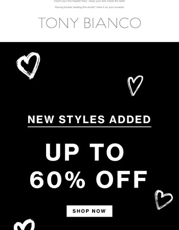 Because We Love You | New Markdowns Added