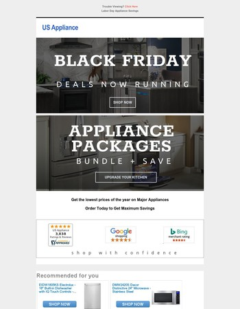 Black Friday Appliance Deals Are Here