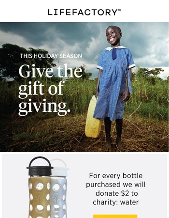 Give the Gift of Giving This Holiday Season.