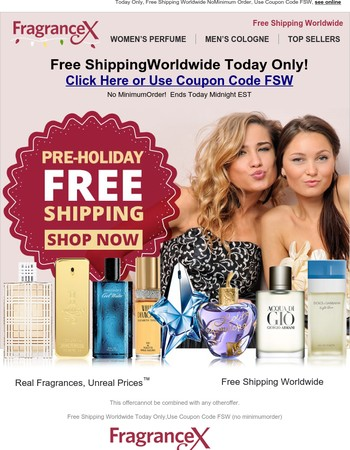 Free Shipping Worldwide No Minimum Today Only!