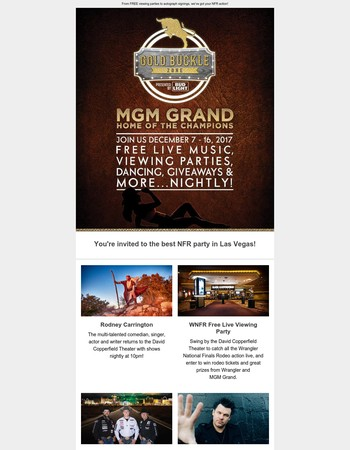 The best NFR party just got better! Don't miss your chance to catch all the action.