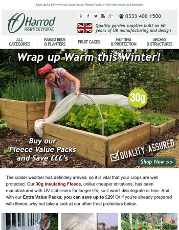 Hurry - Protect your crops from the frost