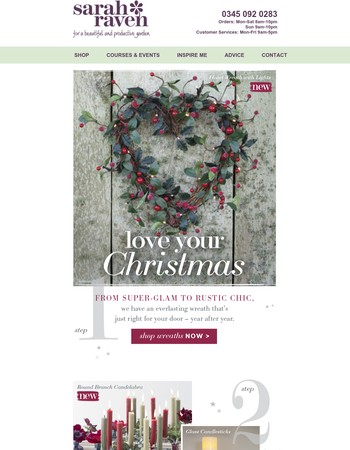 Love your Christmas with free P&P
