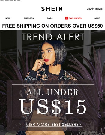 A must-shop: Fall hot styles all under US$15