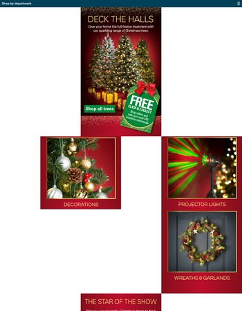 Deck the halls with trees, lights & decorations