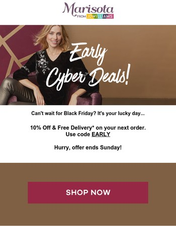 Cyber Week warm up - 10% off + free delivery!