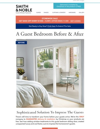 Guest Bedroom Before & After – Impress Guests, Plus Save $400 Off Every $1,000