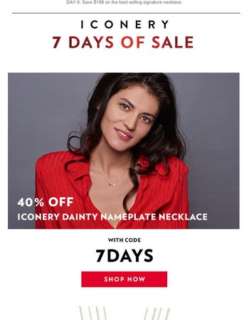 7 DAYS OF SALE | 40% Off Dainty Nameplates