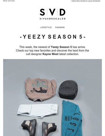 Discover the best of Yeezy Season 5 new collection