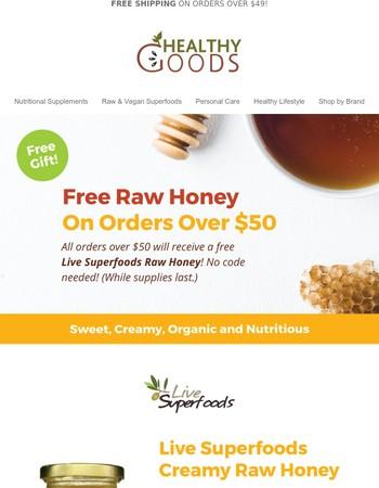 Free Live Superfoods Honey!
