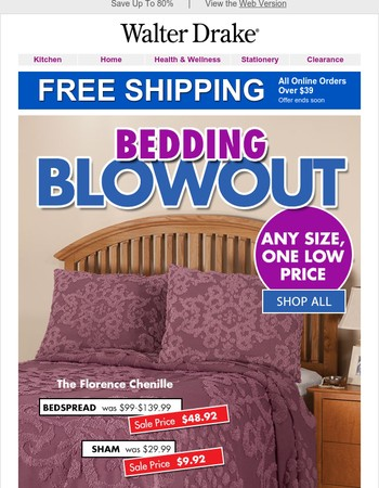 Bedding Blowout