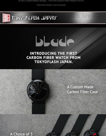 The New Blade Carbon Fiber Watch