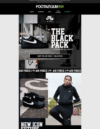 Air Force 1 'Black Pack' featuring AJ Tracey
