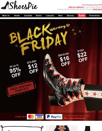Click here&shop at a big discount-Don't have to wait Black Friday.