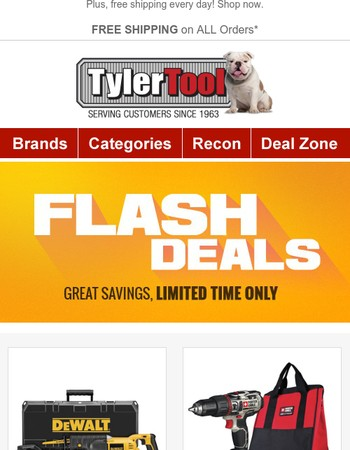 Open Quick! Flash Sale on 8 Hot Tools