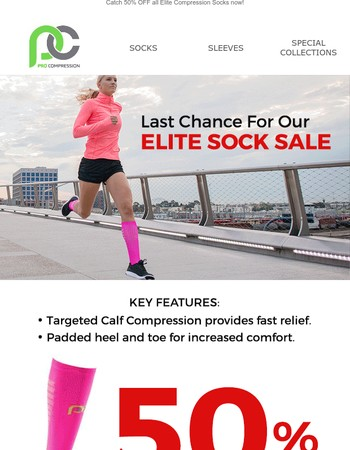 Hurry, Our Elite Sock Sale Ends Soon!