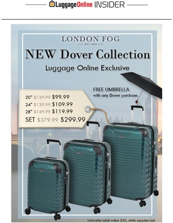 FREE GIFT with purchase of Our Exclusive London Fog Collection!