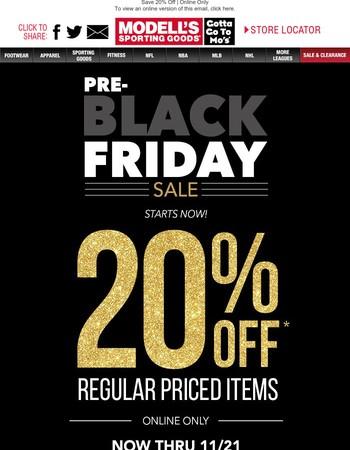 Let It Begin! Pre-Black Friday Savings Starts NOW!