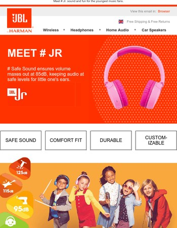 Meet JBL Jr. sound and fun for the youngest music fans.