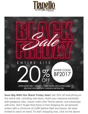 Save Big With Our Black Friday Sale!
