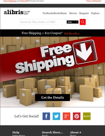 Weekend Deals: Free Shipping + $12 Off