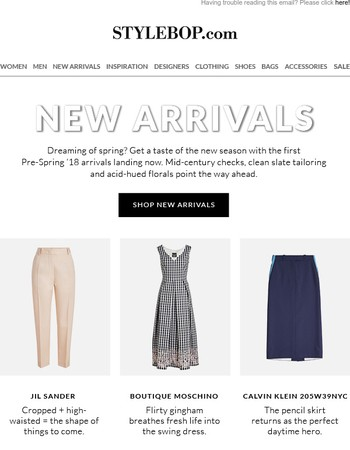 Just In: New Arrivals