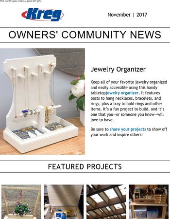 Free Plan: Jewelry Organizer