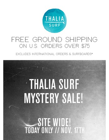Mystery Sale! Today only!