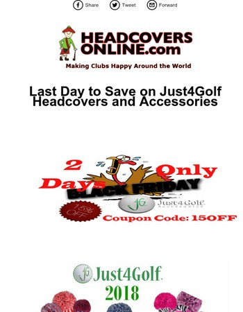 Last Day to Save on Just4Golf Headcovers