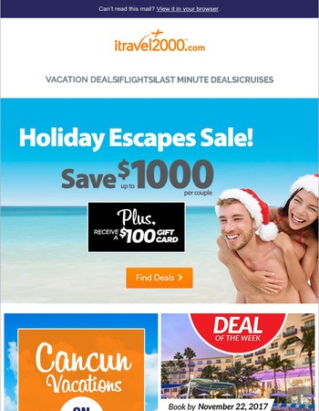 Hi Mary, Holiday Escapes SALE