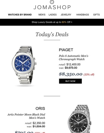 24 HOURS: 66% off Oris | Piaget Polo Chrono | Mk Studded Shoulder Bag