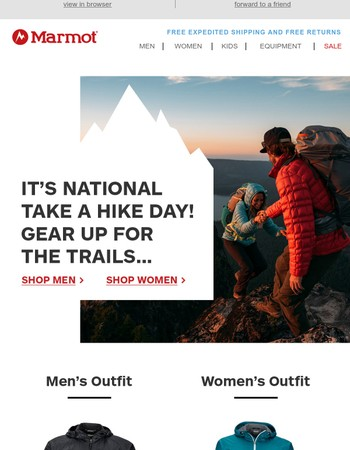 It's National Take a Hike Day...