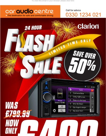 Flash Sale on Clarion NX404e