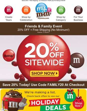 Last Day - Don't Miss Our Friends And Family Event.