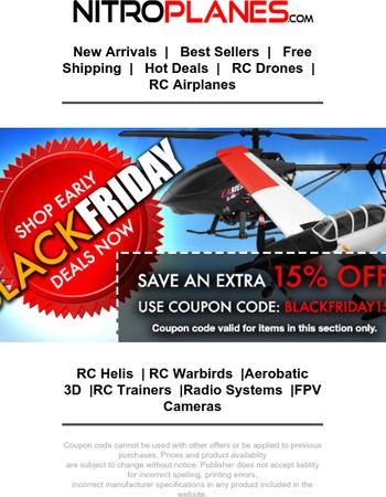Nitroplanes Black Friday Deals Available Now!