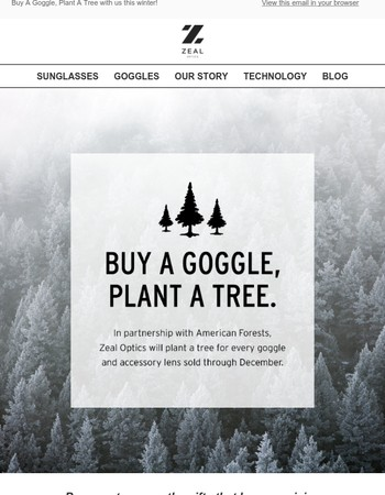 Buy A Goggle, Plant A Tree