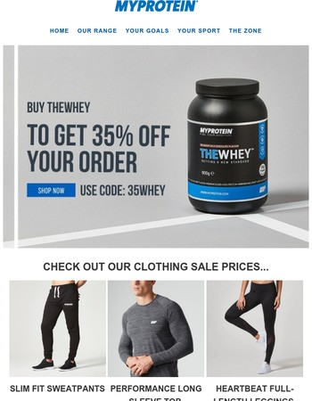 FRIDAY SAVINGS! 35% off everything when you buy THEWHEY