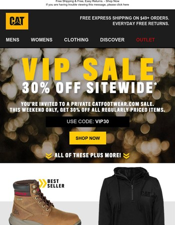 VIP: 30% off Everything Just For You