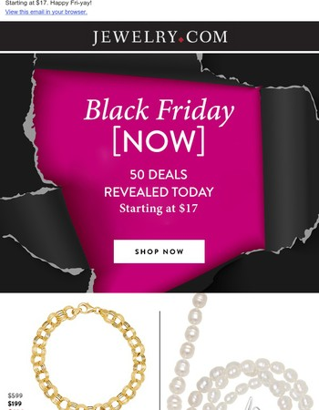 TODAY: 50 Black Friday Now deals revealed!