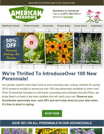 Announcing Over 100 New Perennials For Spring 2018